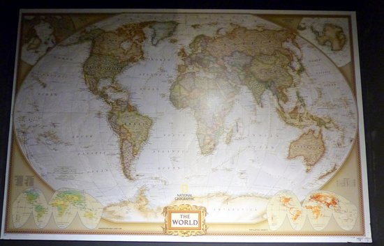 National Geographic Cafe: National Geographic Store - maps