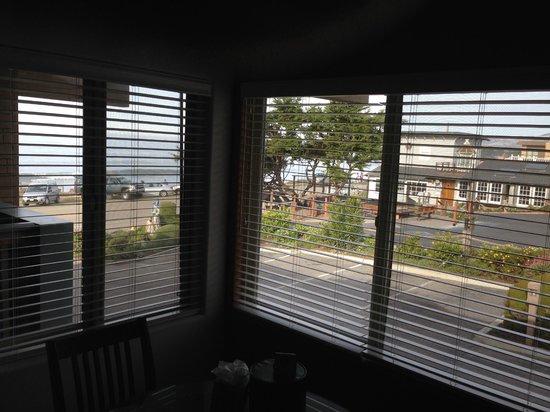 Little Sur Inn: Looking out window, toward water