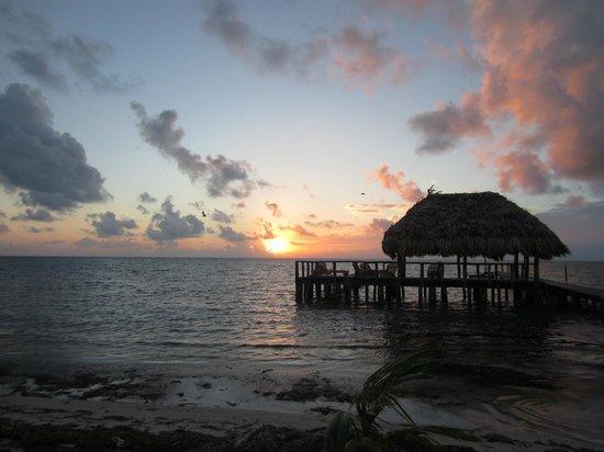 St. George's Caye Resort: The Palapa at sunrise