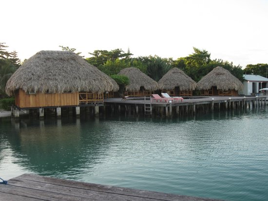 St. George's Caye Resort : The over the water cabanas
