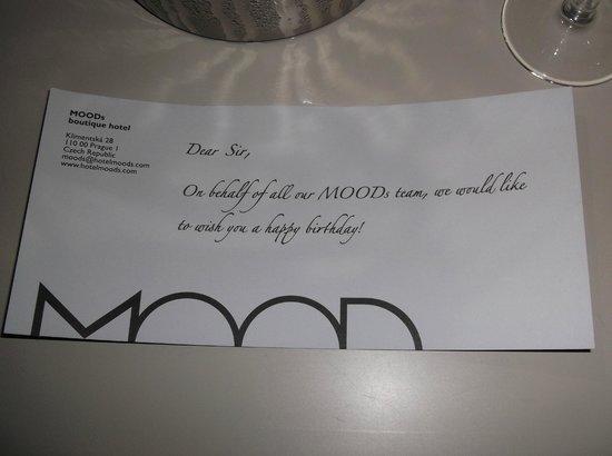 MOODs Boutique Hotel: Wishing my boyfriend a happy 21st