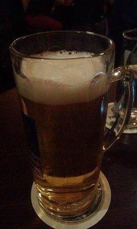 Schlappen: ein kühles Bier