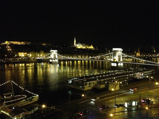 InterContinental Budapest : View from Danube-Facing Room - IC Budapest