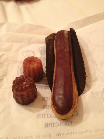 Patisserie Stohrer : Éclair au chocolat & Canele