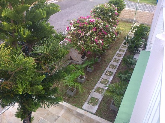Caribbean Inn: serene gardens
