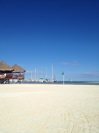 El Dorado Maroma, by Karisma : Marina next door and Massage Huts on the water