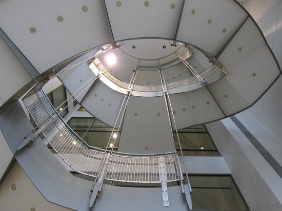 The Walters Art Museum: Looking up from the main entrance lobby.