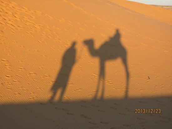 Morocco Excursions: shadows on the dunes