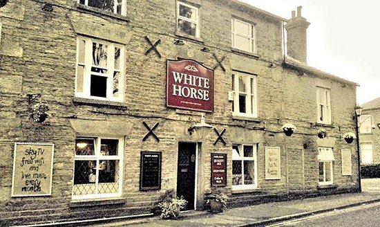 The White Horse Inn: front entrance to the white horse