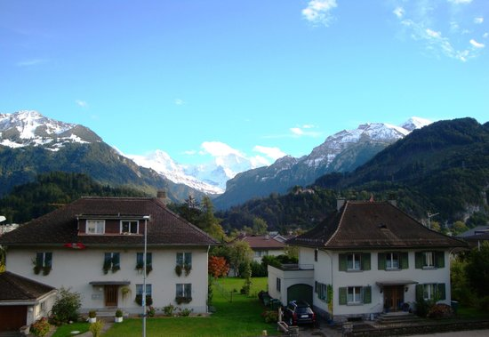 Hotel Chalet Swiss: One view from our room