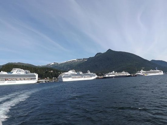 Misty Fjords National Monument : Cruise ships in Ketchikan harbor. ©Kathryn R. Burke