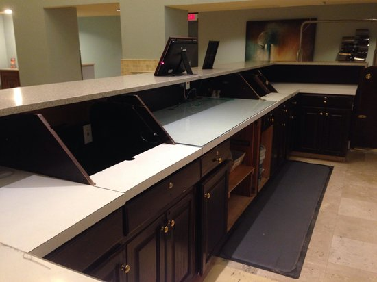 Bayside at Sandestin: Abandoned and gutted front desk