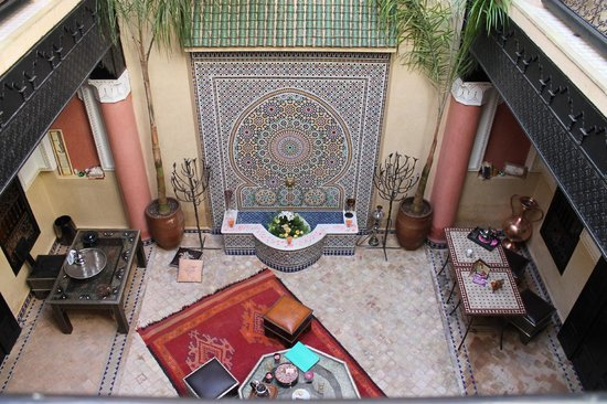 Riad Princesse du Desert : View outside of Turquoise Room, located on second floor
