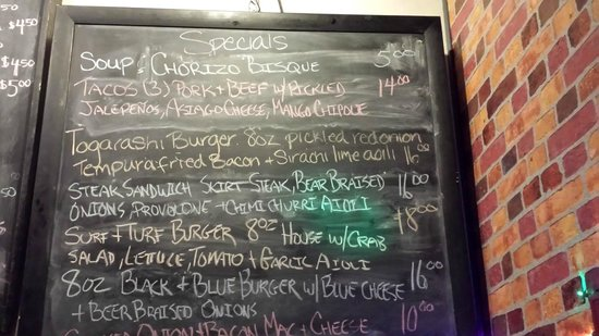 MEAT Eatery And Taproom: Specials