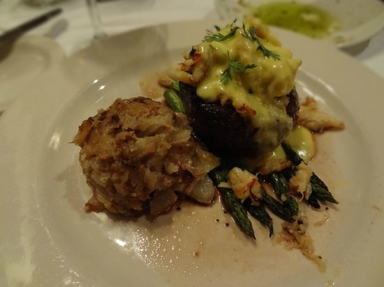 The Brooklyn Seafood Steak & Oyster House : oscar with CHEESY potatoes