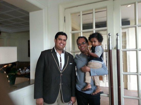 Vivanta by Taj - Connemara, Chennai: The friendly F&B Manager, Aditya