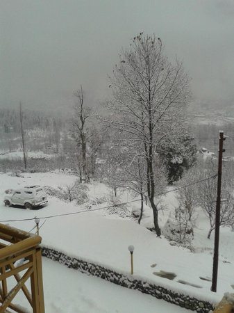 Hotel Vyas Vatika Manali : Snow View from Balcony