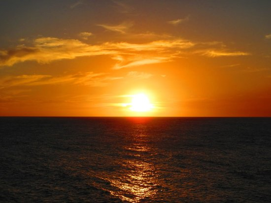 Avila Beach Hotel: toller Sonnenuntergang vom Balkon aus