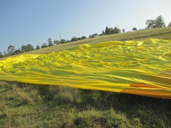 Hot Air Balloon Gold Coast: After landing