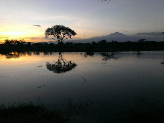 Voyager Ziwani, Tsavo West: Dinner with sunset view