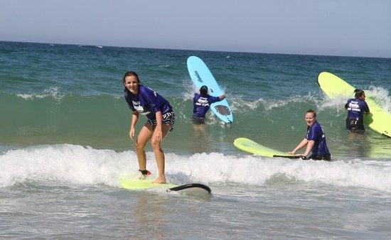 SilkySurf: First lesson... surfing!!!!