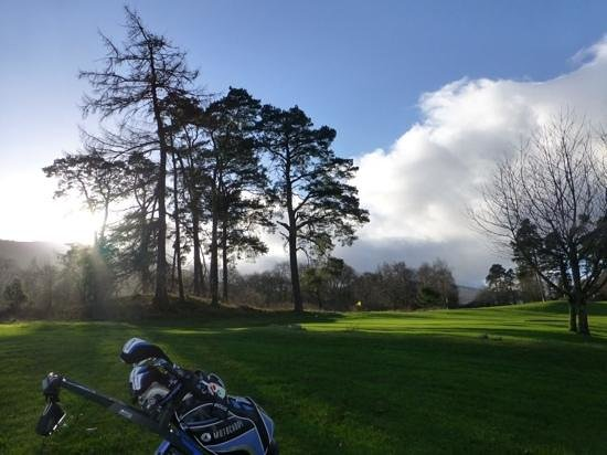 Mains of Taymouth Golf Course: Ever changing skies with the wafting smells of burning woodsmoke!