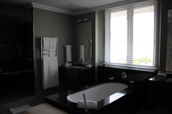 Queen Victoria Hotel & Manor House: Open plan bathroom with separate shower & toilet
