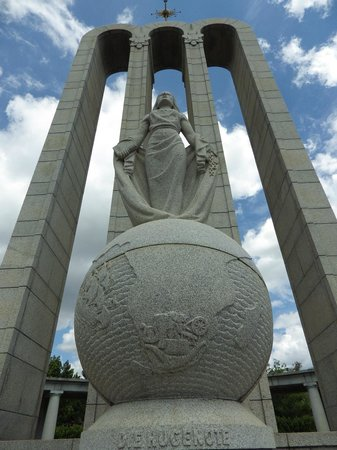The Huguenot Memorial Monument: View from below the Huguenot Monument