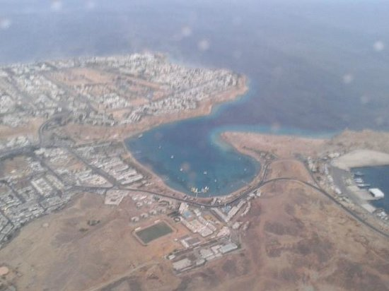 Turquoise Beach Hotel: Bay from the air