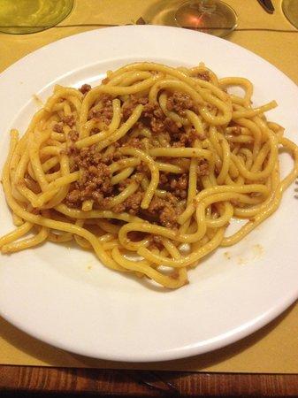 La Burrasca: Pici al ragù d'anatra