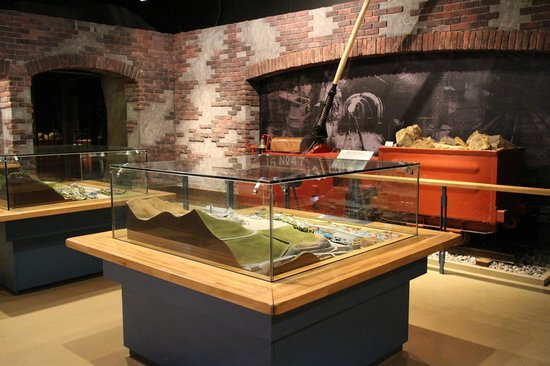 Ashio Dozan: 通洞選鉱場(昭和40年代)縮尺ジオラマなどの展示物