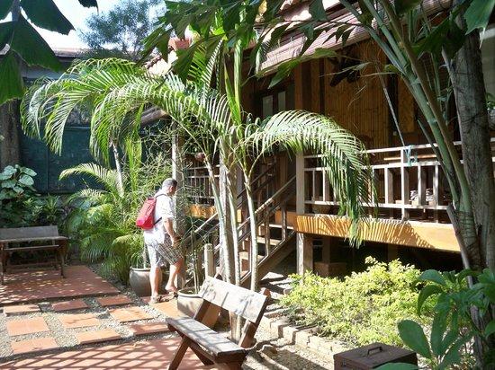 Auberge Sala Inpeng (Mekong Riverside Inn): terrasse