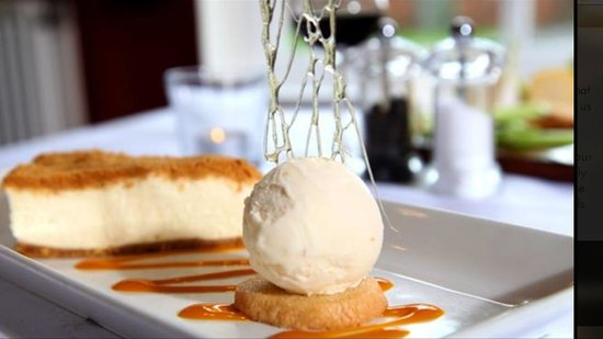 The Talbot: Vanilla & gingerbread cheesecake with orange and Cointreau ice cream