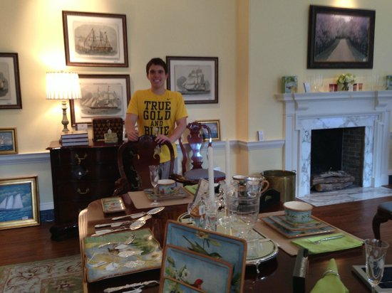 Winterthur Museum, Garden & Library: My son, the grad student, fitting right in
