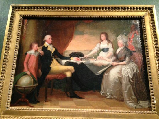 Winterthur Museum, Garden & Library : George Washington and family--Martha was the one with the money and breeding--she was a Lee
