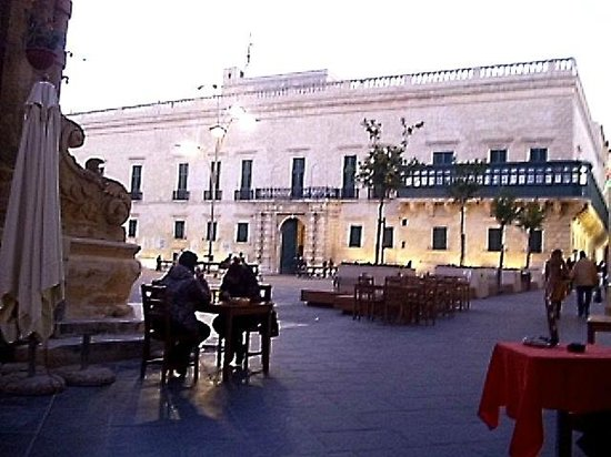 Badass Cafe: A view from an outdoors table - Grandmaster's Palace