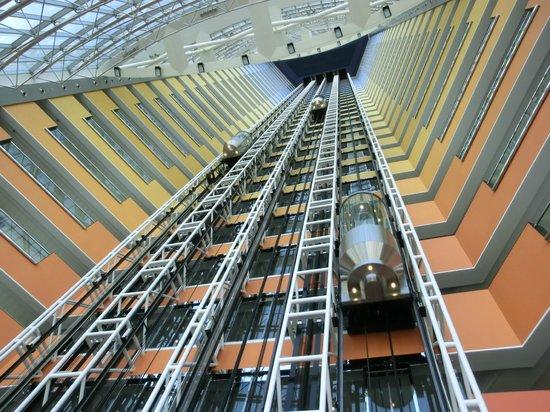 Jumeirah Emirates Towers: Elevator Shaft.