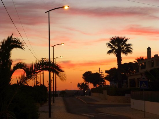 Algar Seco: Carvoeiro  in der Nacht