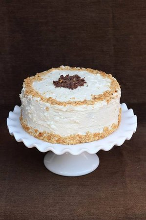 Arnolds Perk Coffee House: Camp Fire Cake....Toasted Marshellow Frosting with Chocolate Cake