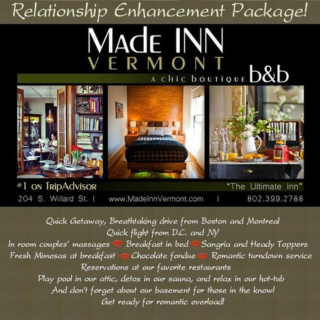 Made INN Vermont, an Urban-Chic Bed and Breakfast: Hotel Deals Burlington Vermont | Best B&B Burlington Vermont | Best Food | Best Fun | Hip-Chic