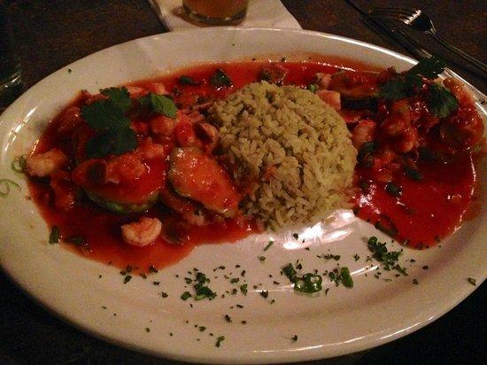 Diego's Bar & Grill: Avocado Diabla with Shrimp