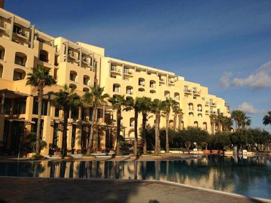 Hilton Malta: View From Pool (Dec/Jan)