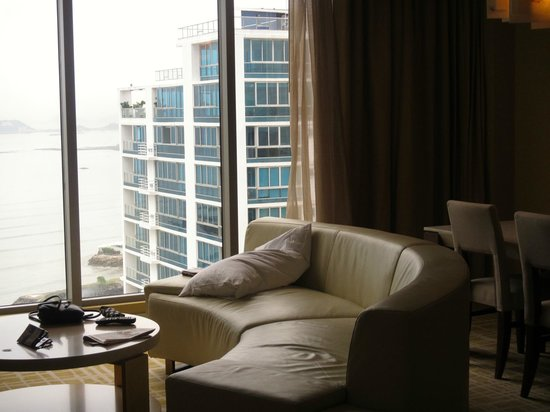 Waldorf Astoria Panama: View from the sitting area in our ocean view suite