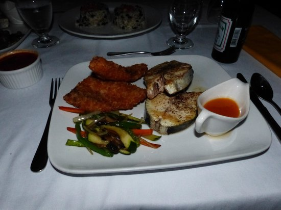Singing Sands Inn : Our own caught fish, prepared by the cook