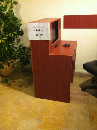 Mount Zion Hotel: internet point fuori uso per almeno 2 giorni
