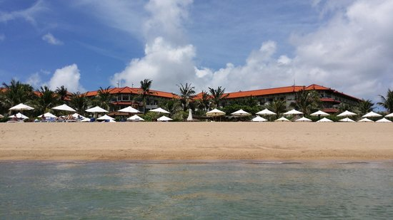 Grand Mirage Resort and Thalasso Bali: View from tth sea