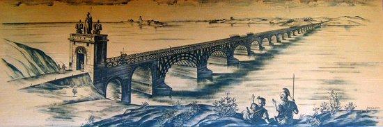 Trajan's Bridge: Podul lui Traian / Traian's bridge was constructed in 105 AD by architect Apollodorus of Damascu