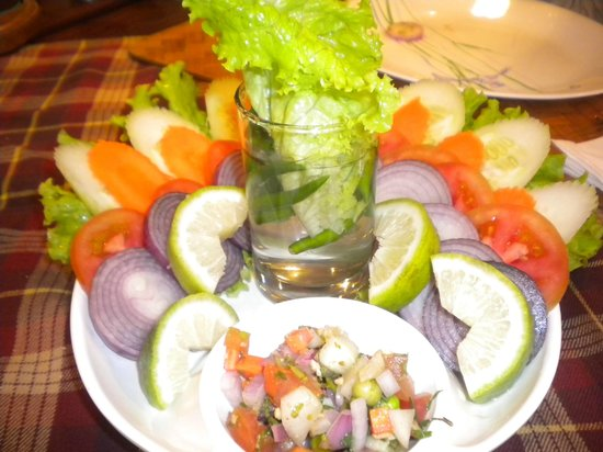 City Hut Family Dhaba : Green Salad served attractively