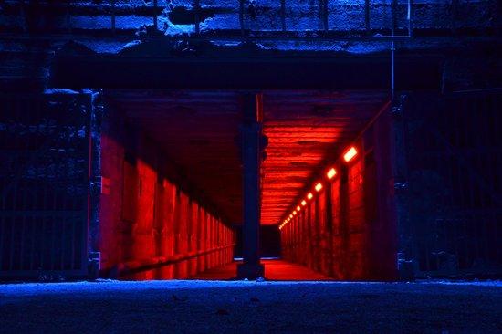 Landschaftspark: Lichtinstallation im Hüttenwerk