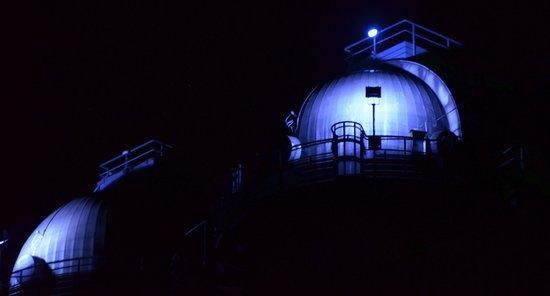 Landschaftspark : Lichtinstallation im Hüttenwerk